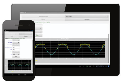 Android data acquisition applications
